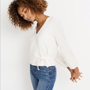 TEXTURE a& THREAD MADEWELL Crepe Wrap Top